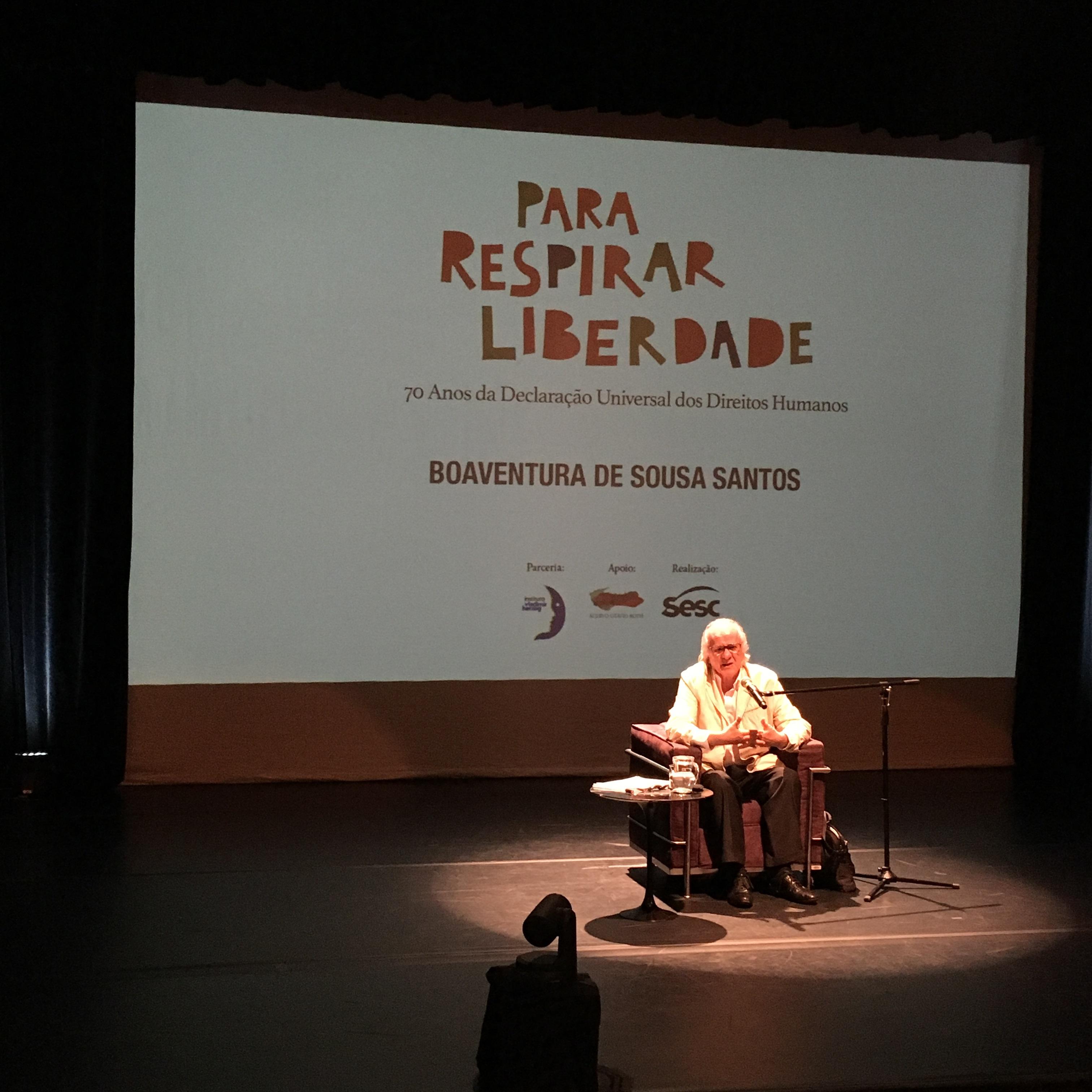 Foto: Direitos Humanos são instrumentos de justiça social, afirma sociólogo Boaventura de Sousa Santos